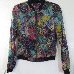 Paper Tee Jacket Sz S Tropical Leaf Long Sleeve